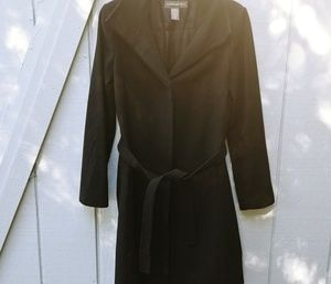 Banana Republic black wool and cashmere trench SM